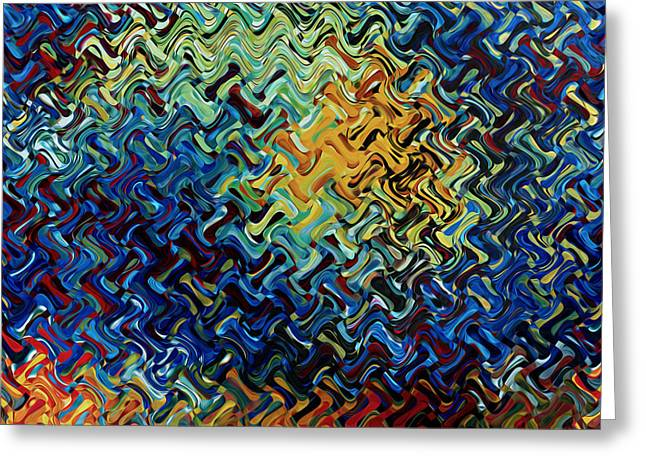 Transparency Geometric Greeting Cards - Art abstract vibrant colorful background 2 Greeting Card by Lanjee Chee