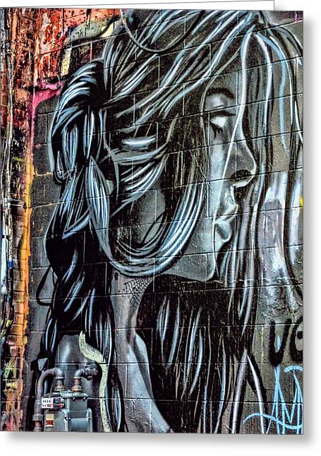 Dakota Faces Greeting Cards - Art Alley 7 Greeting Card by Adam Vance