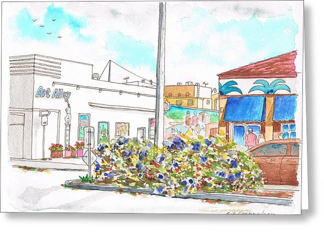 Architecrure Greeting Cards - Art Alley in Lompoc - California Greeting Card by Carlos G Groppa