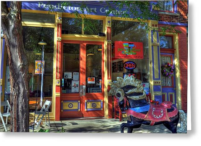 Art And Coffee Greeting Card by Mel Steinhauer