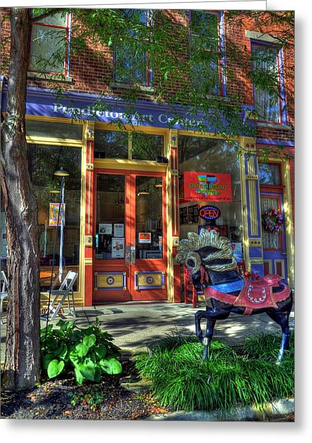 Southern Indiana Greeting Cards - Art And Coffee Greeting Card by Tri State Art