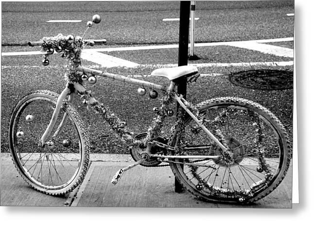 Art Bike Greeting Card by Laura Jimenez
