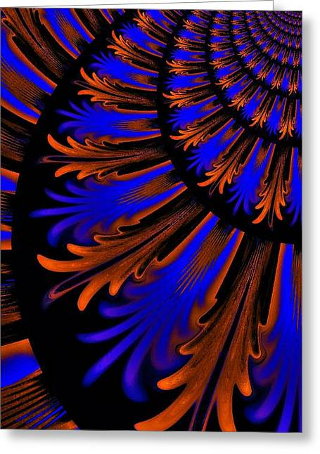 Layer Greeting Cards - Art Deco Abstract Greeting Card by CJ Anderson