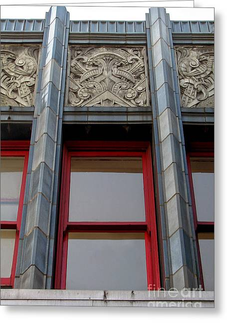Art Deco Architectural Detail Greeting Card by Gregory Dyer