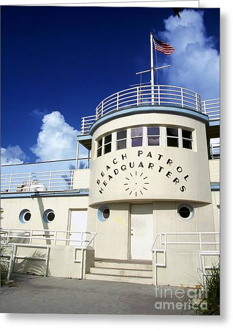 Happening Greeting Cards - Art Deco Beach Patrol Greeting Card by Thomas R Fletcher