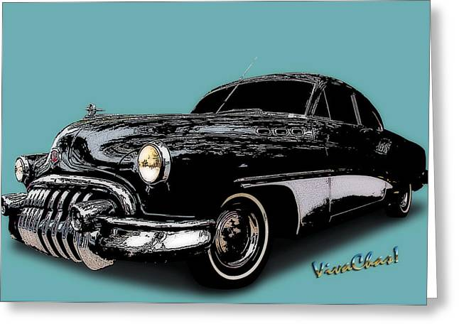 Storm Prints Digital Greeting Cards - Art Deco Buick Greeting Card by Chas Sinklier