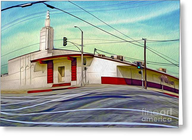 Gregory Dyer Greeting Cards - Art Deco Building - Pomona CA Greeting Card by Gregory Dyer