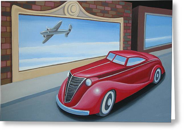 Art Deco Coupe Greeting Card by Stuart Swartz