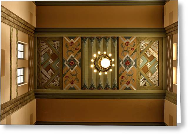 Union Station Lobby Greeting Cards - Art Deco East Anteroom Greeting Card by Nikolyn McDonald