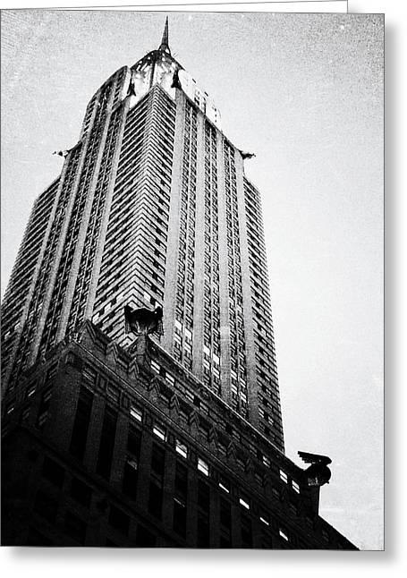 Chrysler Building Digital Art Greeting Cards - Art Deco Grandeur Greeting Card by Natasha Marco