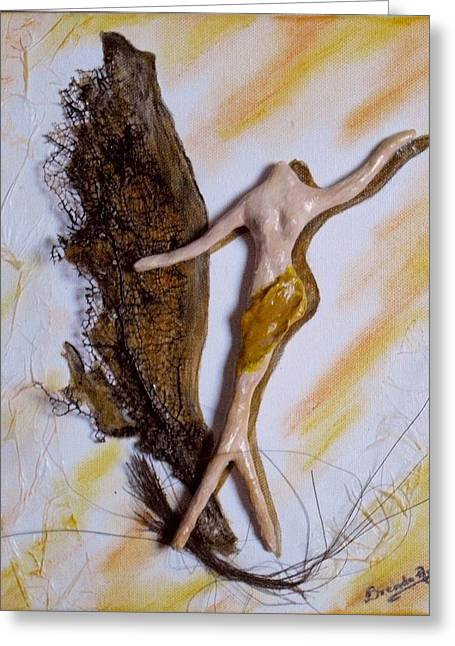 Fantasy Sculptures Greeting Cards - Art Deco I Greeting Card by Brenda Almeida-Schwaar