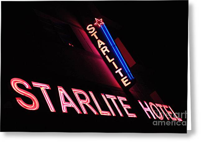 Famous Hotel Greeting Cards - Starlite Hotel Art Deco District Miami 3 Greeting Card by Bob Christopher