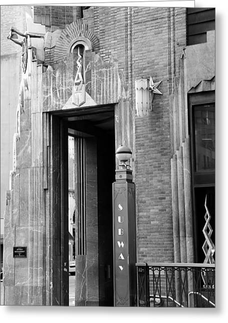 Electric Building Greeting Cards - Art Deco New York 1b Greeting Card by Andrew Fare