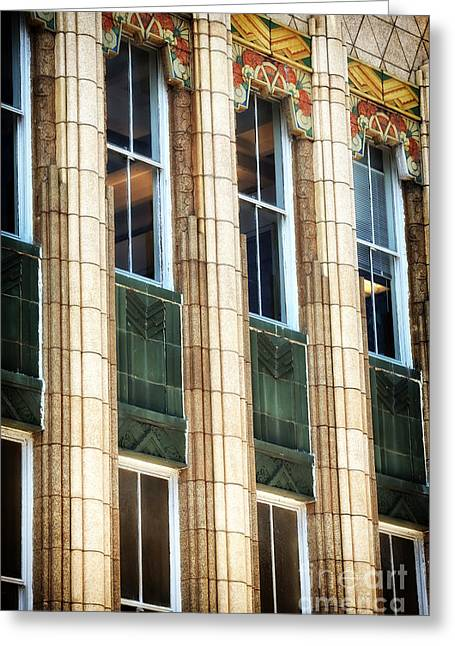 Art Galleries On Line Greeting Cards - Art Deco on King Street Greeting Card by John Rizzuto