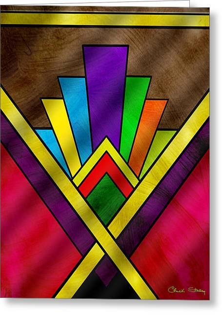 Staley Art Greeting Cards - Art Deco Pattern 7V Greeting Card by Chuck Staley