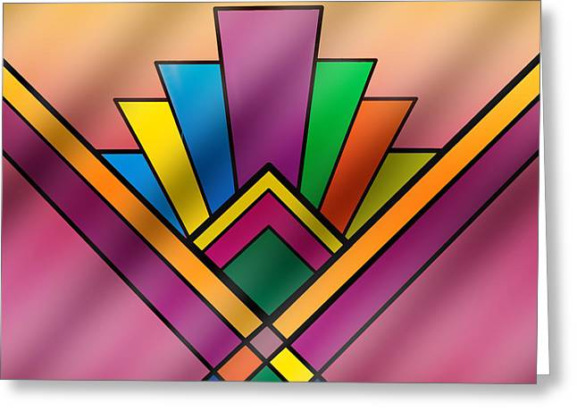 Staley Art Greeting Cards - Art Deco Pattern 6 Greeting Card by Chuck Staley