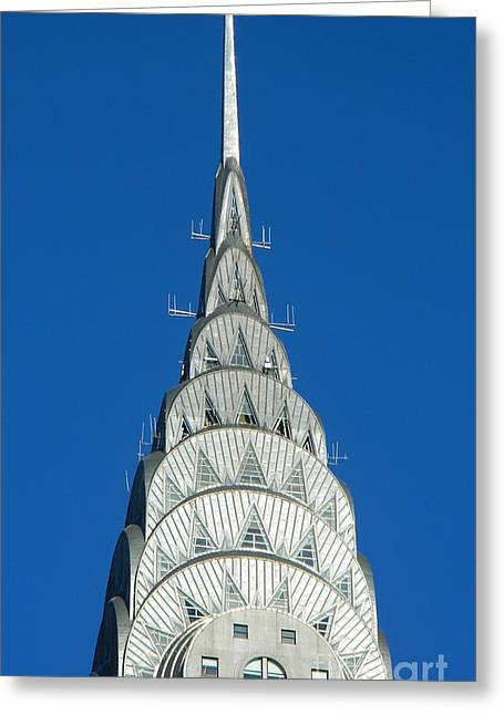 Art Deco Skyscraper - The Chrysler Building Greeting Card by Emmy Marie Vickers