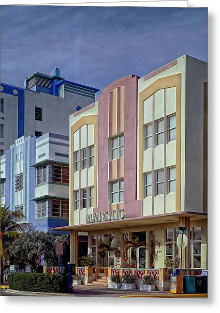 Flowers Miami Greeting Cards - Art Deco Style of Miami Beach Greeting Card by Mountain Dreams