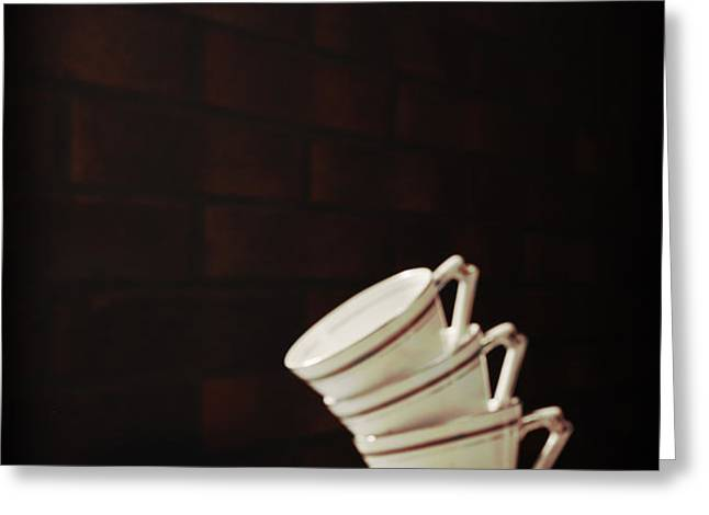 Art Deco Teacups Greeting Card by Amanda And Christopher Elwell