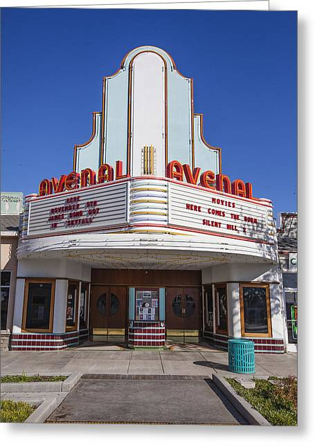 Outdoor Theater Greeting Cards - Art Deco Theater Greeting Card by David Litschel
