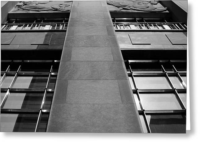 Bank Art Greeting Cards - Art Deco Tower 2 Greeting Card by Andrew Fare