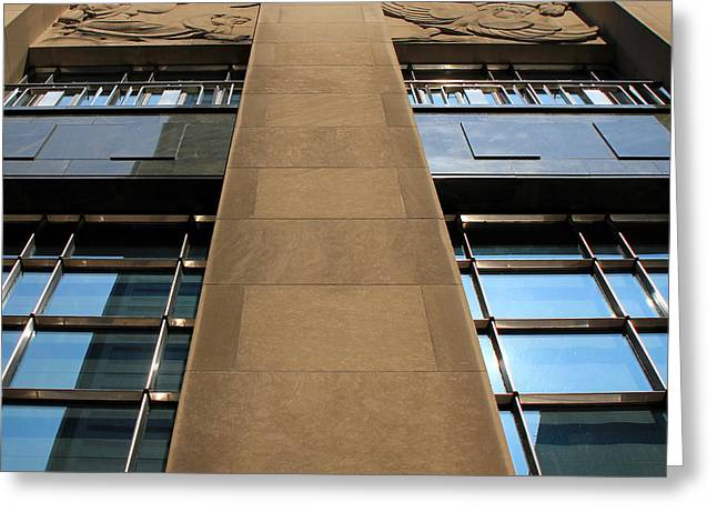 Bank Art Greeting Cards - Art Deco Tower Greeting Card by Andrew Fare