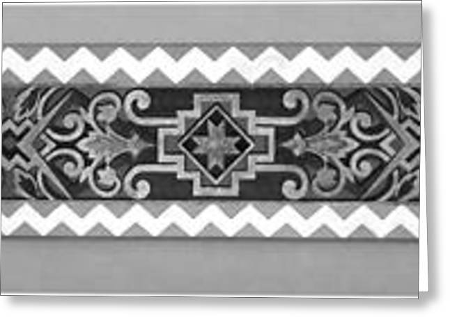 Union Station Lobby Greeting Cards - Art Deco Trim #1 - bw Greeting Card by Nikolyn McDonald