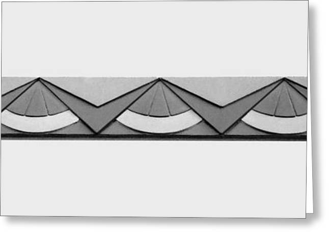 Union Station Lobby Greeting Cards - Art Deco Trim #2 - bw Greeting Card by Nikolyn McDonald