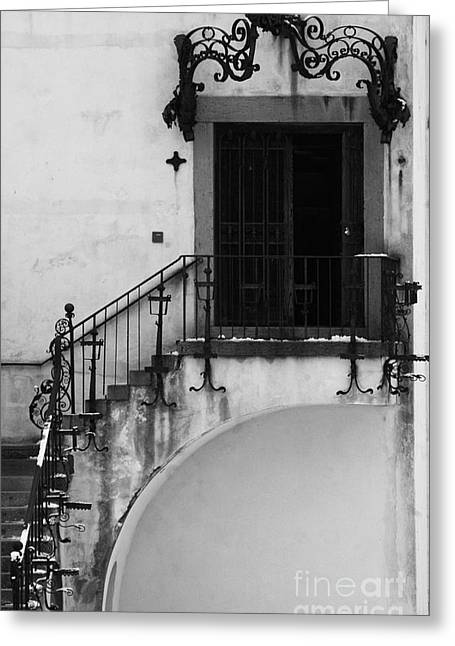 Adspice Studios Art Greeting Cards - BW Photography Art Deco Door  Greeting Card by Anahi DeCanio