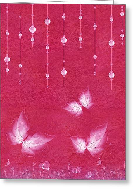 Pink Digital Greeting Cards - Art en Blanc - m04 Greeting Card by Variance Collections