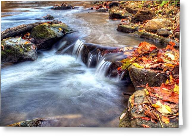 Artistic Photography Greeting Cards - Art for Crohns HDR Fall Creek Greeting Card by Tim Buisman