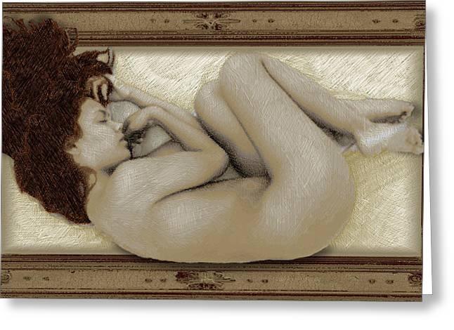 Naked Women Framed Prints Greeting Cards - Art For The Sake of Art Woman Framed 3 Greeting Card by Tony Rubino