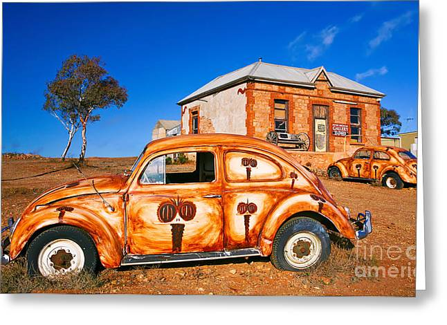 Silverton Greeting Cards - Art Gallery Silverton VW Volkswagen  Greeting Card by Bill  Robinson