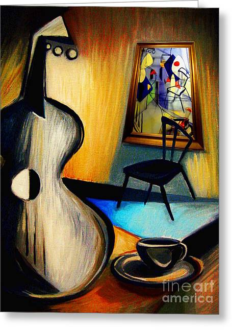 Frederick Luff Greeting Cards - Art Imitates A Still Life Greeting Card by Frederick  Luff