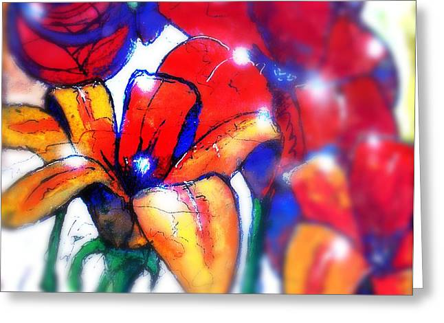 Art In The Eyes 3 Greeting Card by Marcello Cicchini