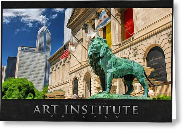 Institute Greeting Cards - Art Institute in Chicago Poster Greeting Card by Christopher Arndt