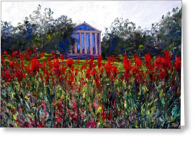 Philadelphia Pastels Greeting Cards - Art Museum Gardens Greeting Card by Bob Richey