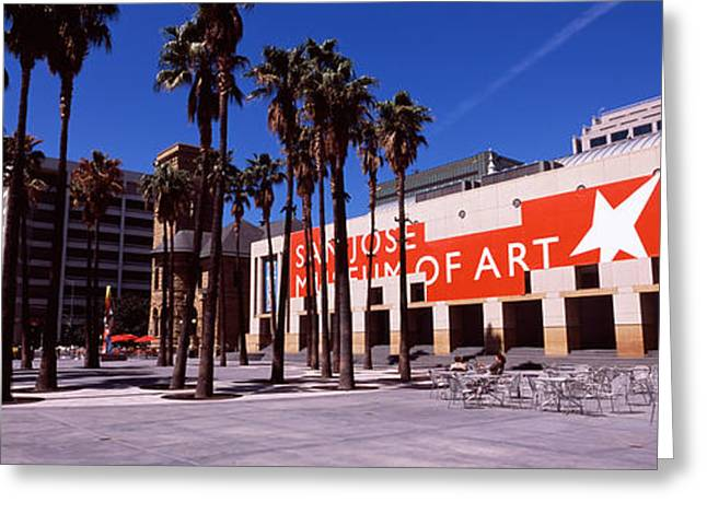 Western Script Greeting Cards - Art Museum In A City, San Jose Museum Greeting Card by Panoramic Images