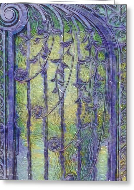 Academic Art Greeting Cards - Art Nouvau Door Greeting Card by Jack Zulli