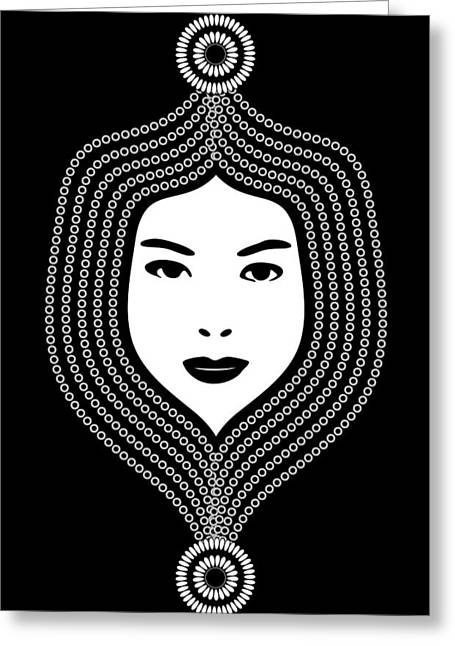 Hair Styles Greeting Cards - Art Nouveau Portrait 457 Greeting Card by Frank Tschakert
