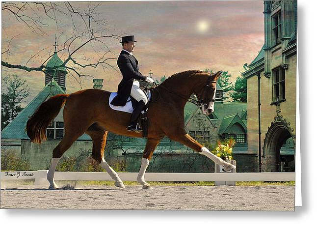 Horse Prints Greeting Cards - Art of Dressage Greeting Card by Fran J Scott