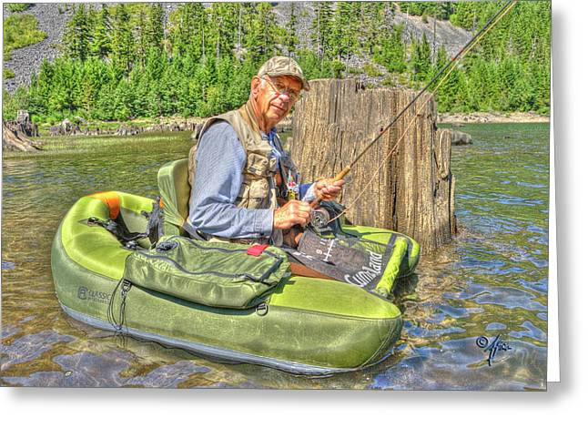 Arthur Fix Greeting Cards - Art Of Fly Fishing Greeting Card by Arthur Fix