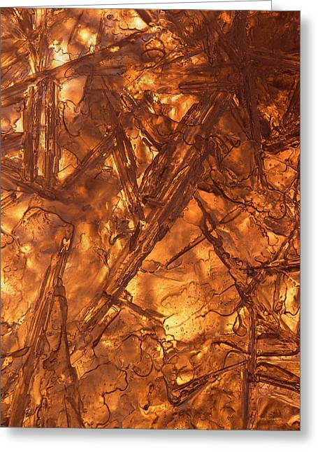 Warm Tones Greeting Cards - Art of Ice 4 Greeting Card by Sami Tiainen