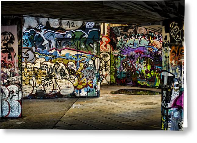 Art of the Underground Greeting Card by Heather Applegate