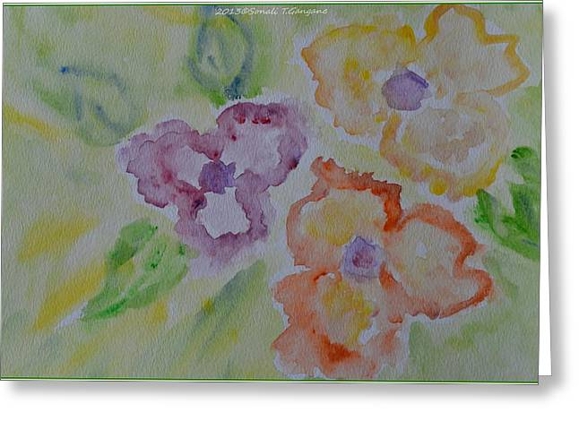 Acrylicprint Greeting Cards - Art of watercolor Greeting Card by Sonali Gangane