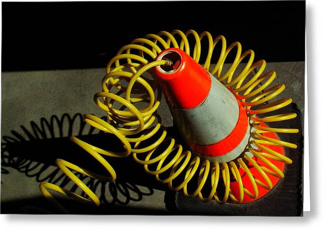 Safety Cones Greeting Cards - ...Art of work... Greeting Card by Charles Struse Sr