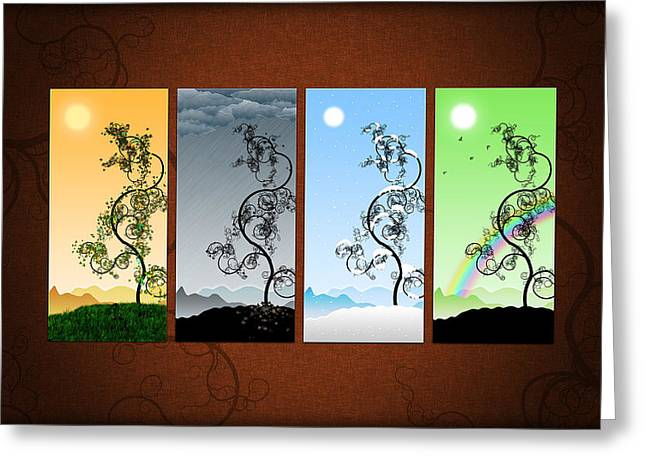 Amazing Digital Art Greeting Cards - Art on the Wall Greeting Card by Gianfranco Weiss