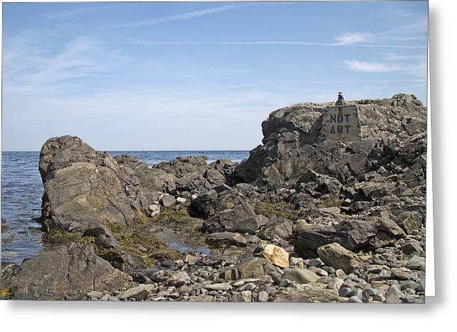 Kennebunkport Greeting Cards - Art Rocks Greeting Card by Betsy C  Knapp