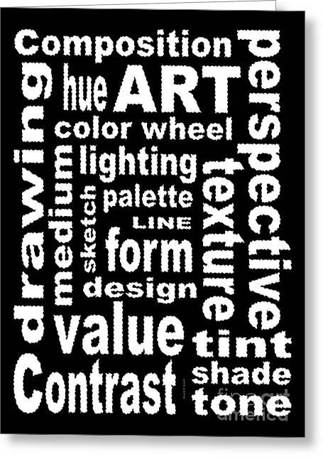 Subway Art Greeting Cards - Art Sign Black Greeting Card by David K Small