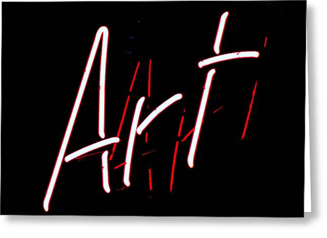 Ron Roberts Photography Greeting Cards Greeting Cards - Art Sign Greeting Card by Ron Roberts